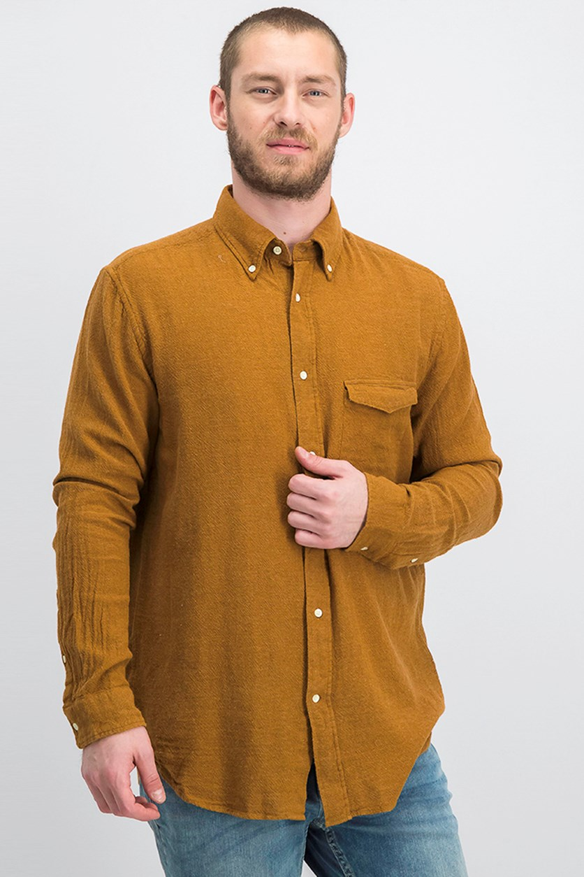 Men's Rugger Plain Weave Shirt, Toffee