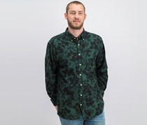 Gant Men's Leaf Print Regular Fit Shirt, Green/Black