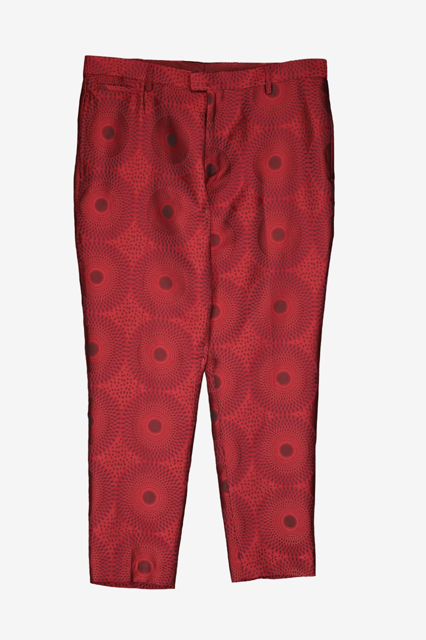 Men's Slim-Fit Circle Pants, Red