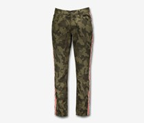 Inc Men's Skinny Fit Tapered Leg Camouflage Jeans, Olive