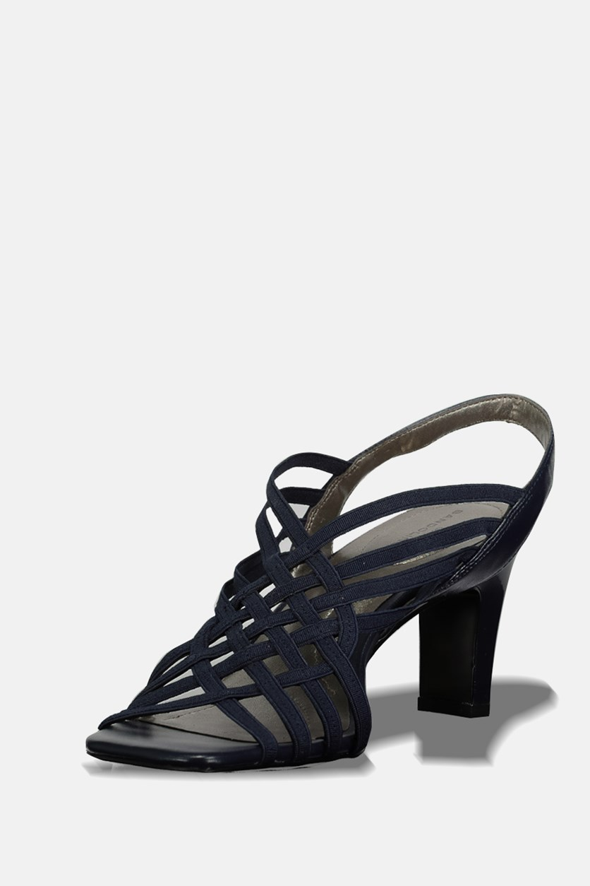 Women Ole Strappy Sandals, Navy