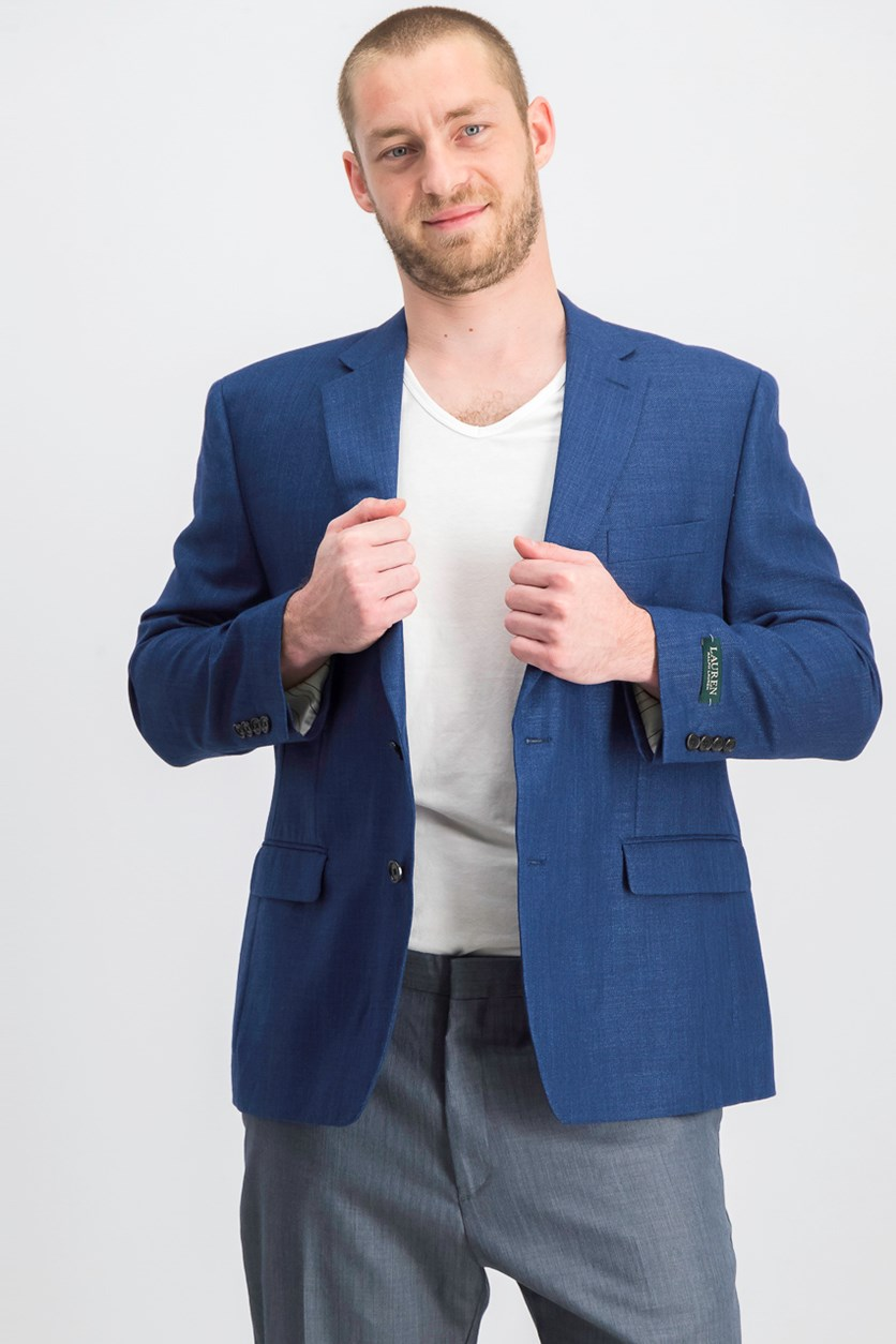 Mens Classic-Fit Neat Blazer, Bright Navy