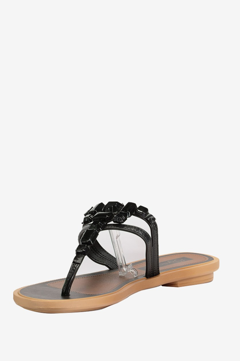 Enhancement Sandals, Black/Brown