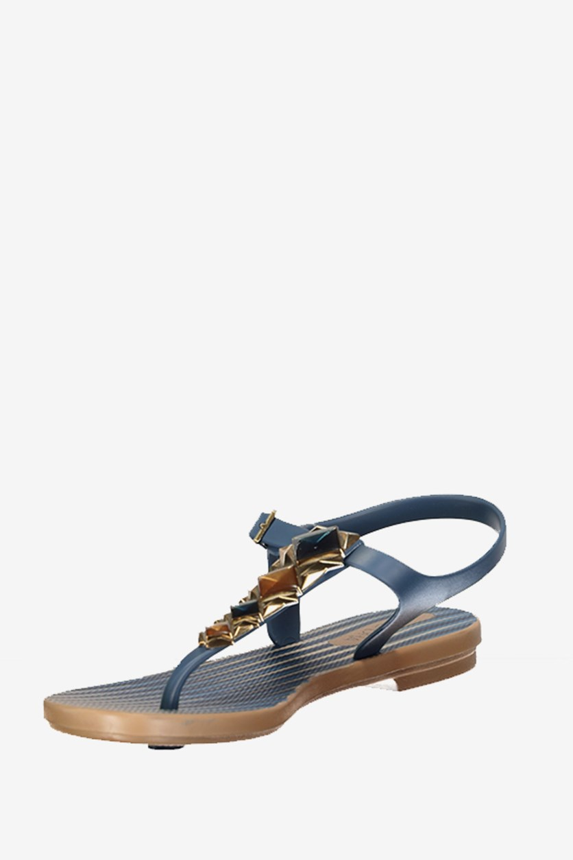 Women Grendha Jewel II Sandals, Blue/Gold