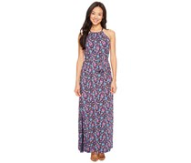 Lucky Brand Women's Party Paisley Maxi Dress, Navy