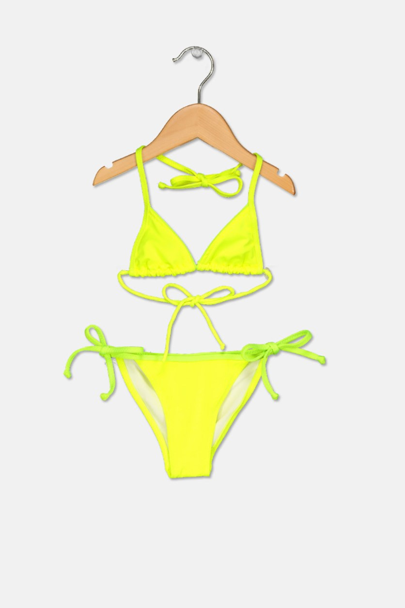 Little Girl's 2 Piece Swimwear, Neon Green