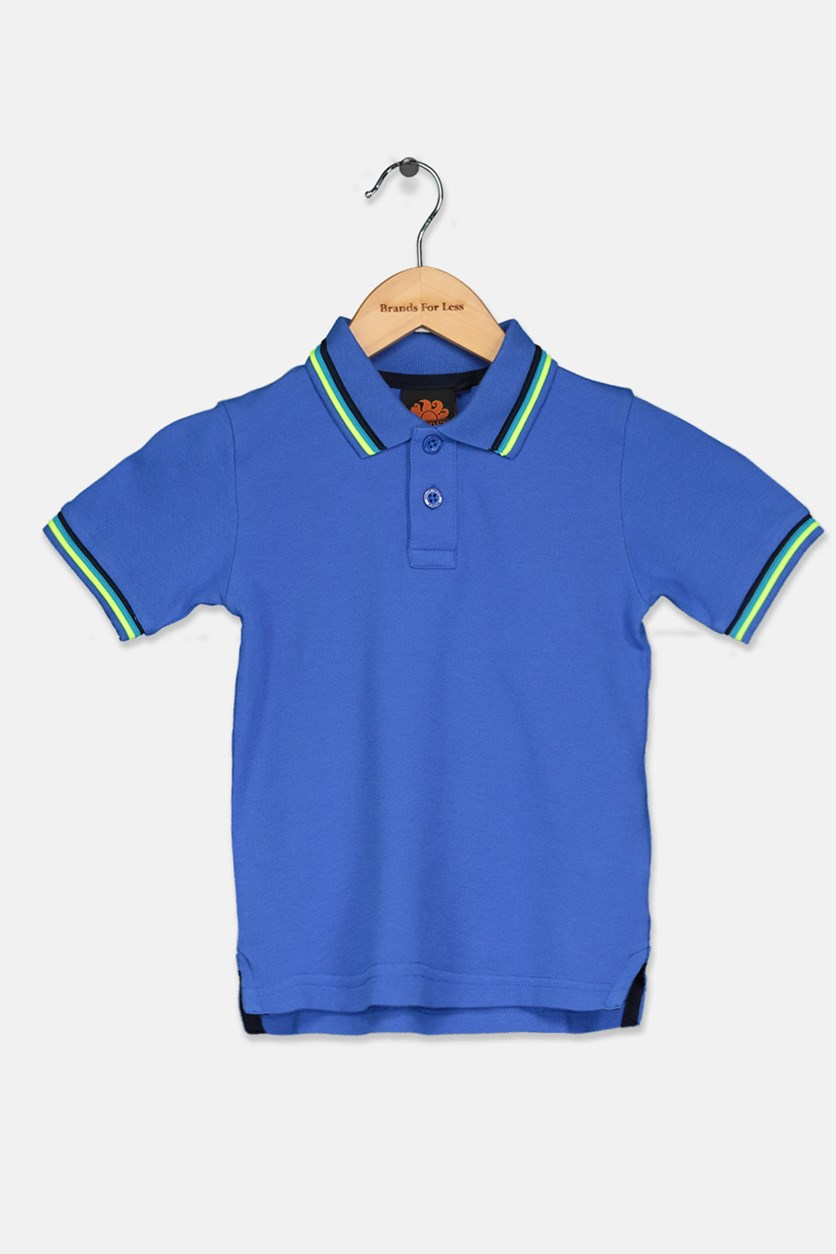 Little Boy's Mini Brice Polo Shirt, Blue