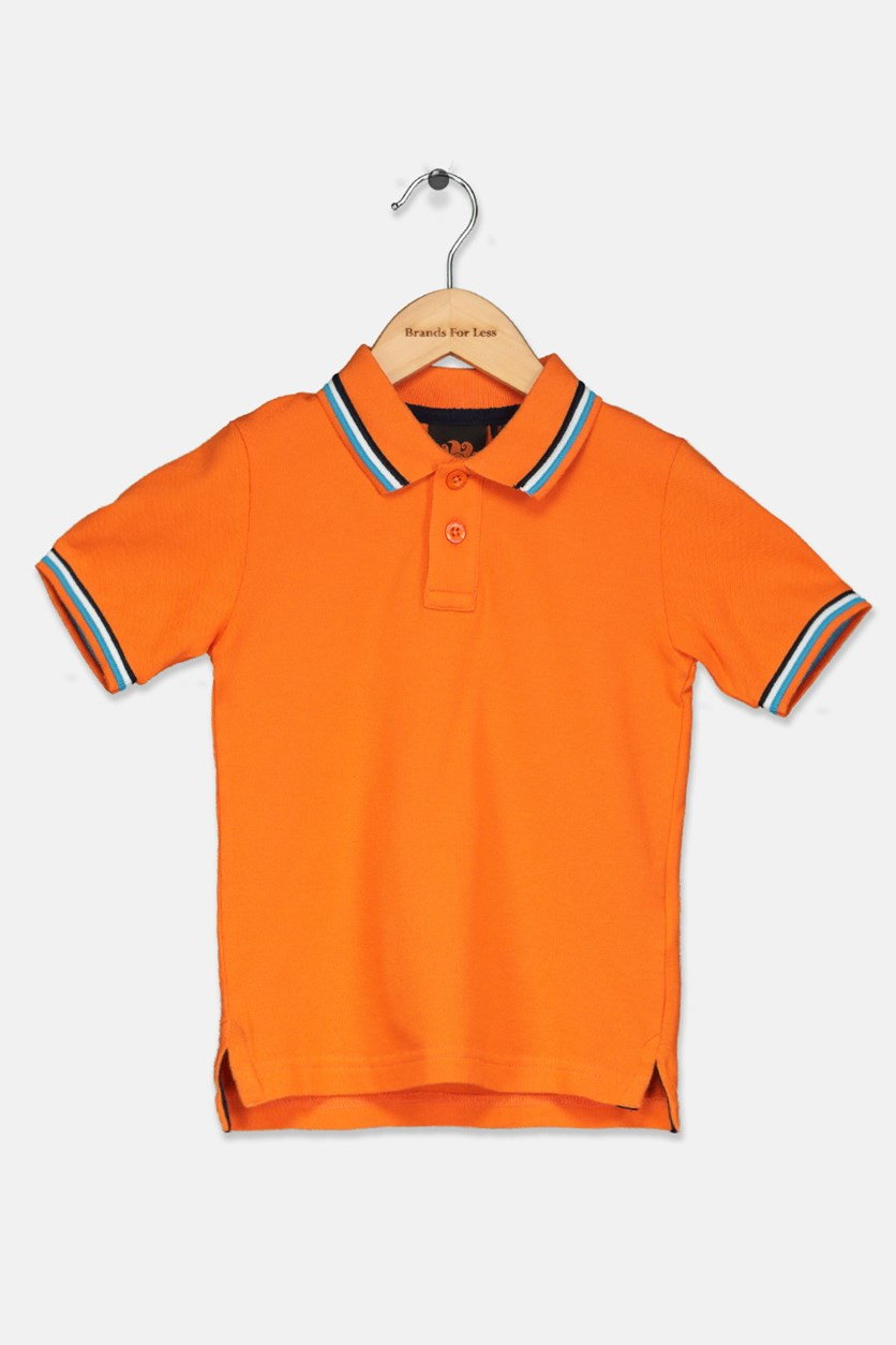 Little Boy's Mini Brice Polo Shirt, Orange