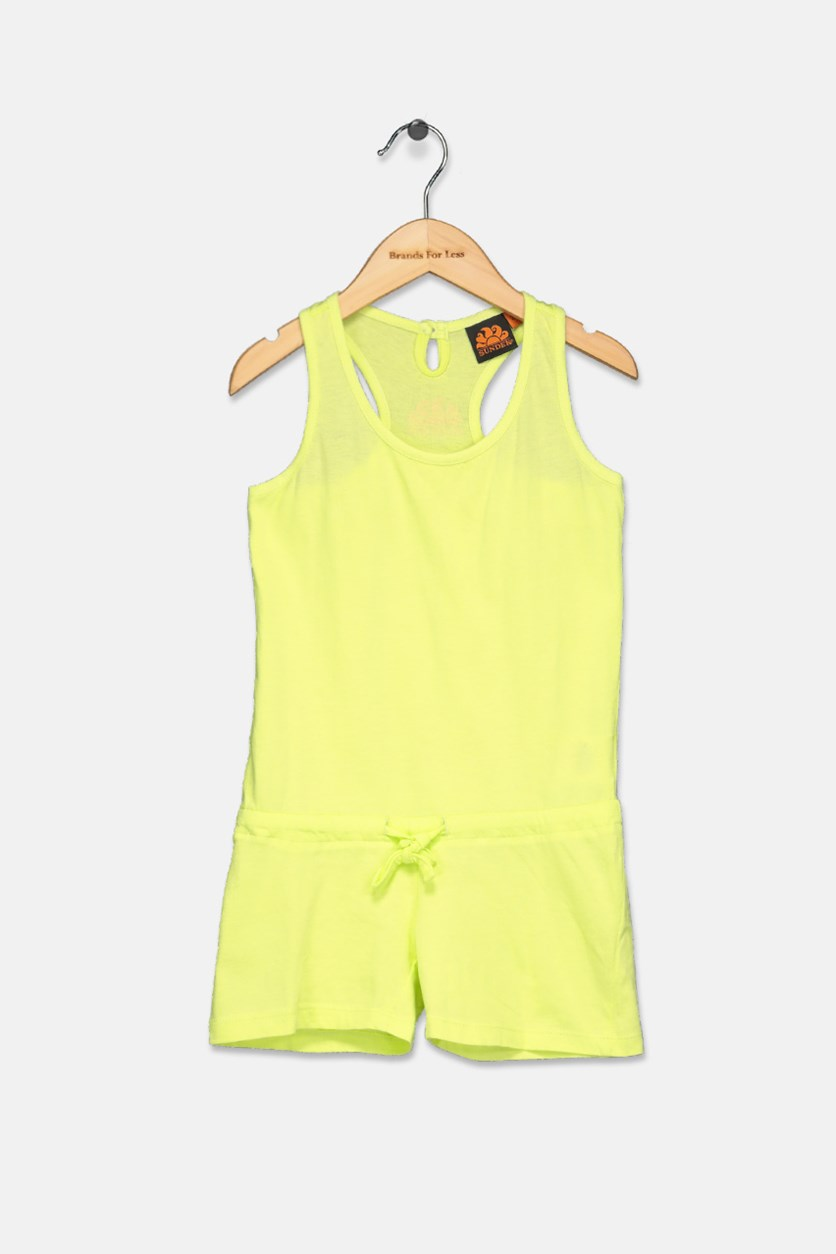 Little Girl's Mini Marilyn Romper, Lime