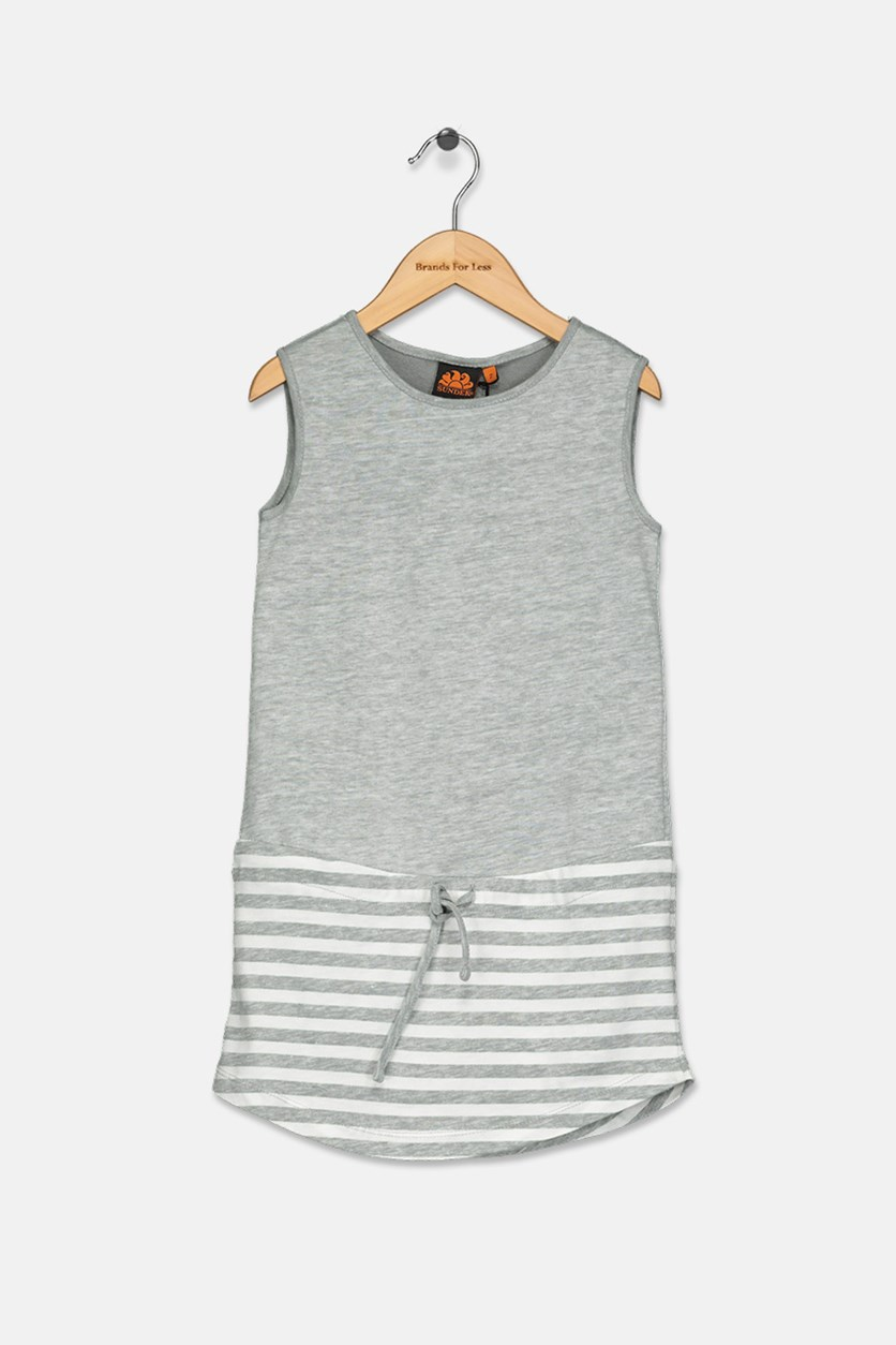 Little Girl's Mini Tracy Dress, Grey Heather