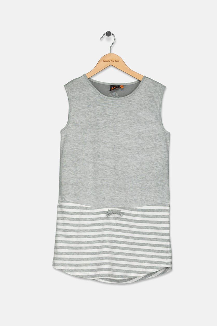 Girl's Mini Tracy Dress, Grey Heather