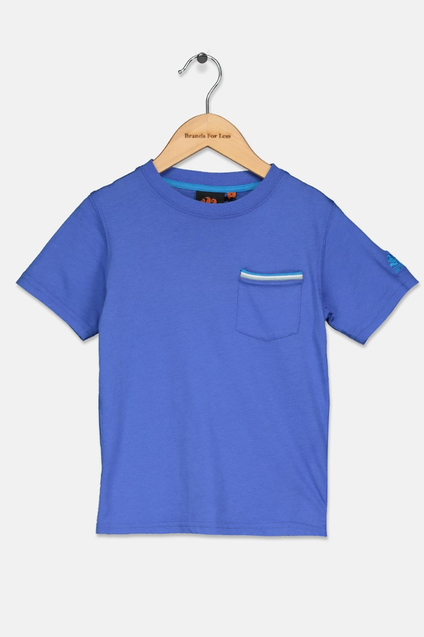 Little Boy's Pocket T-Shirt, True Blue