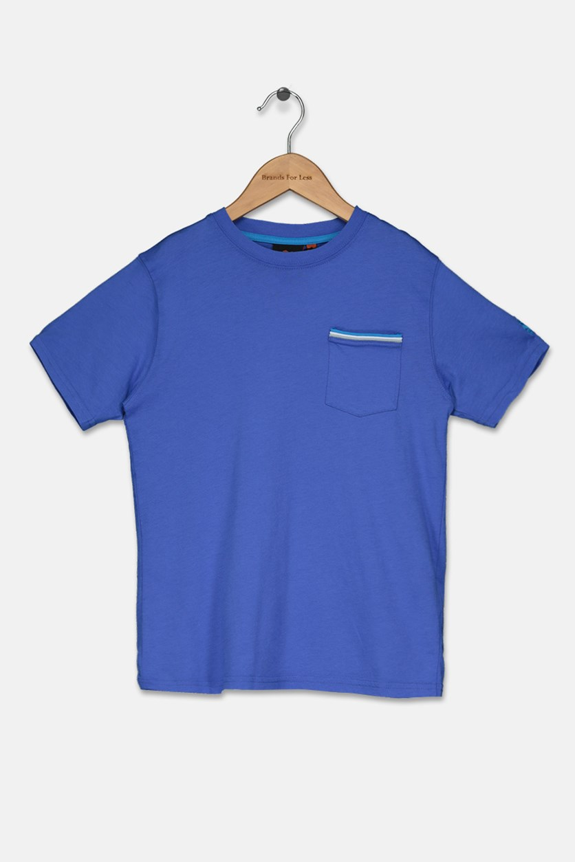 Boy's Pocket T-Shirt, True Blue