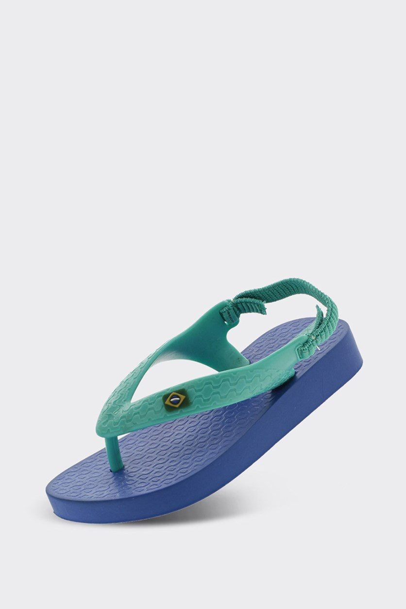 Classic Brazil Baby Sandals, Blue