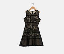 Blush By Us Angles Big Girls Mixed Lace Dress, Black