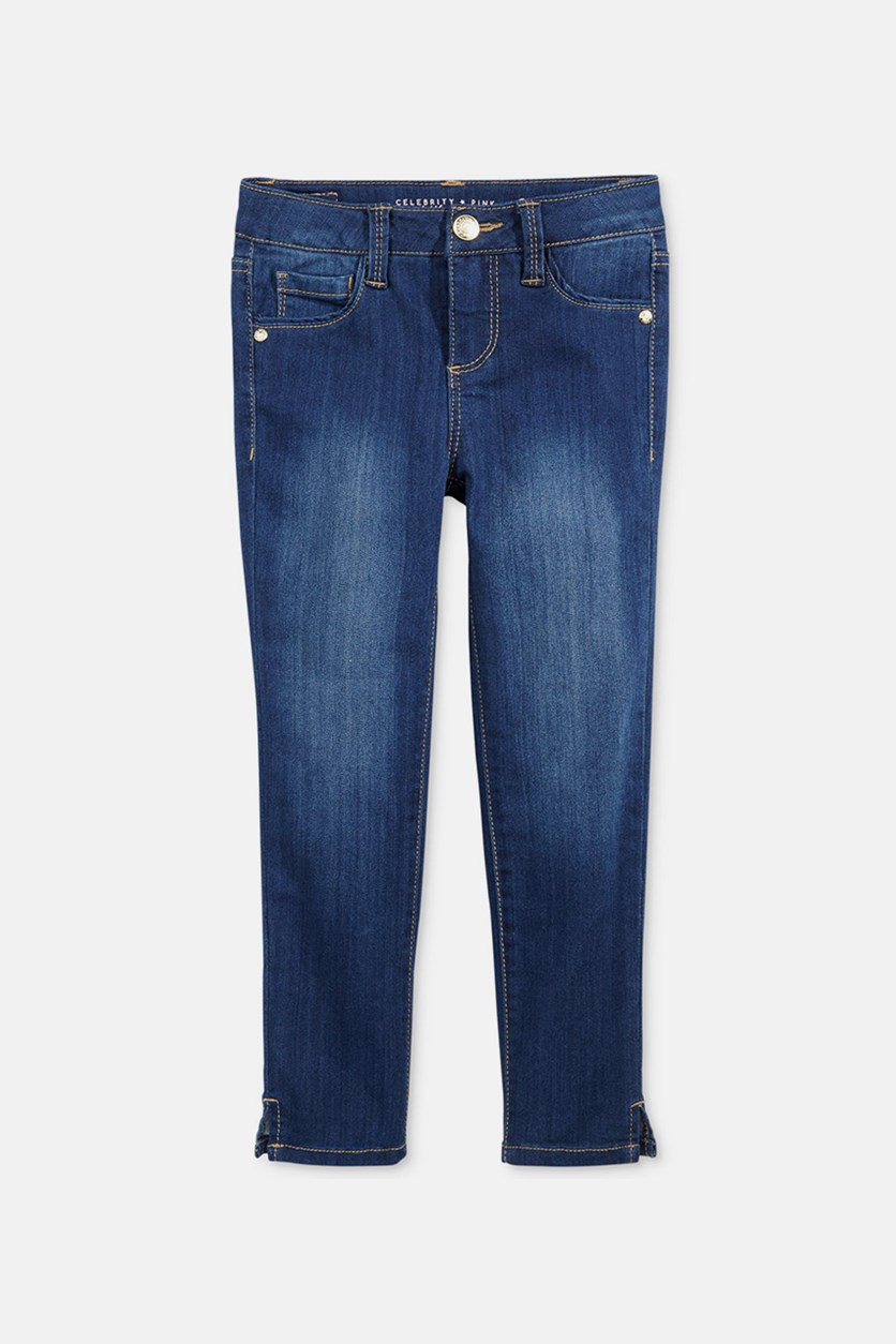 Super Soft Ankle Jeans, Dark Blue