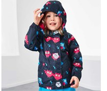 Toddler Thermal Rain Jacket, Blue