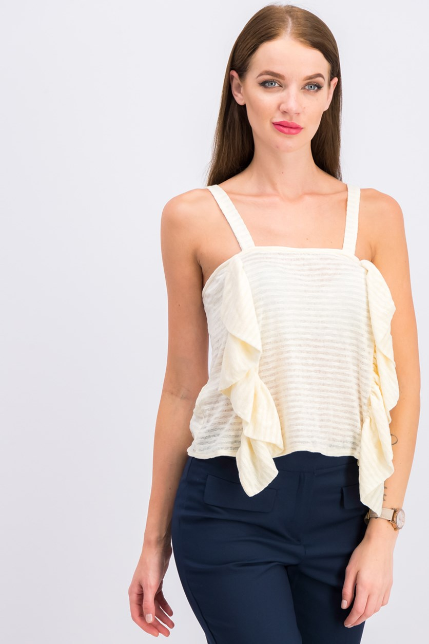 Women Sleeveless Top, Beige