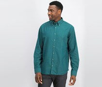 Mango Men Long Sleeve  Casual Shirt, Green