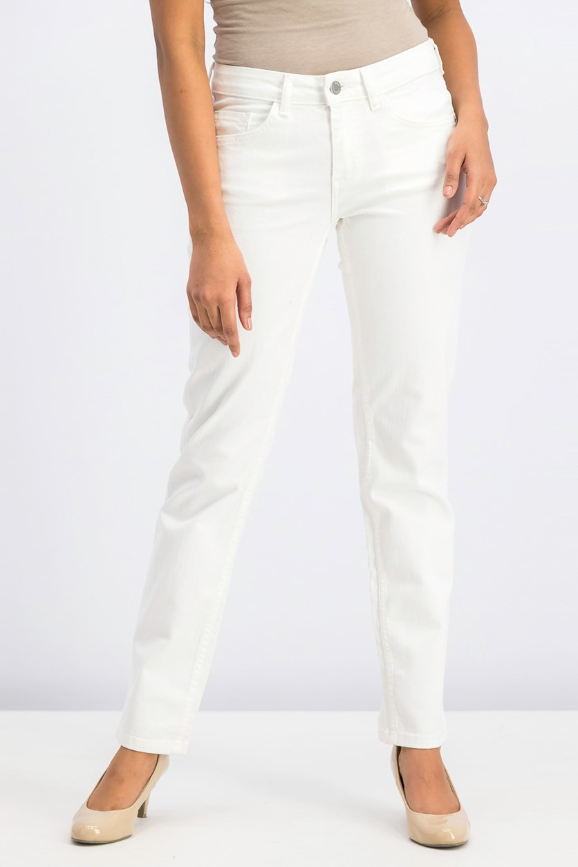 Women Straight Alice Jeans, White