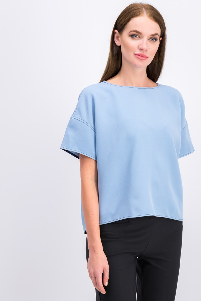 Women's Plain Top, Blue