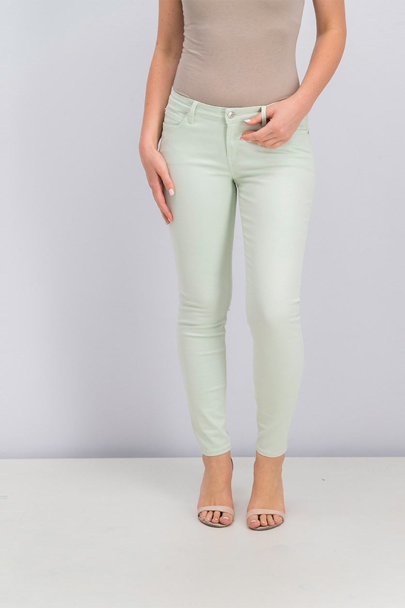 Women's Skinny Jeans, Light Green