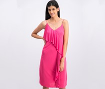 Mango Women's Overlay Dress, Satin Pink