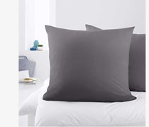 Jersey Pillowcases Set of 2 80 x 80 cm, Grey