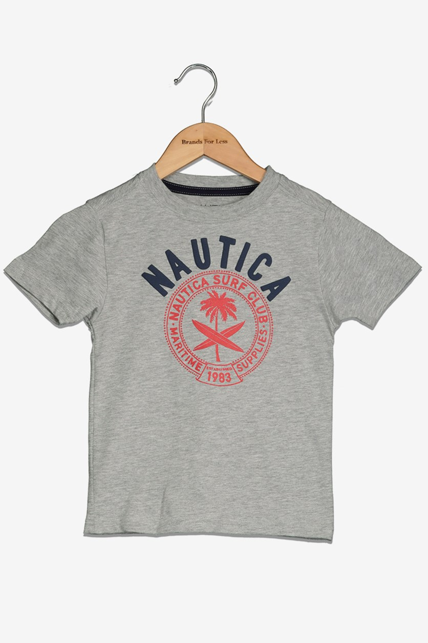 Toddlers Boy's Graphic Tee, Grey Heather