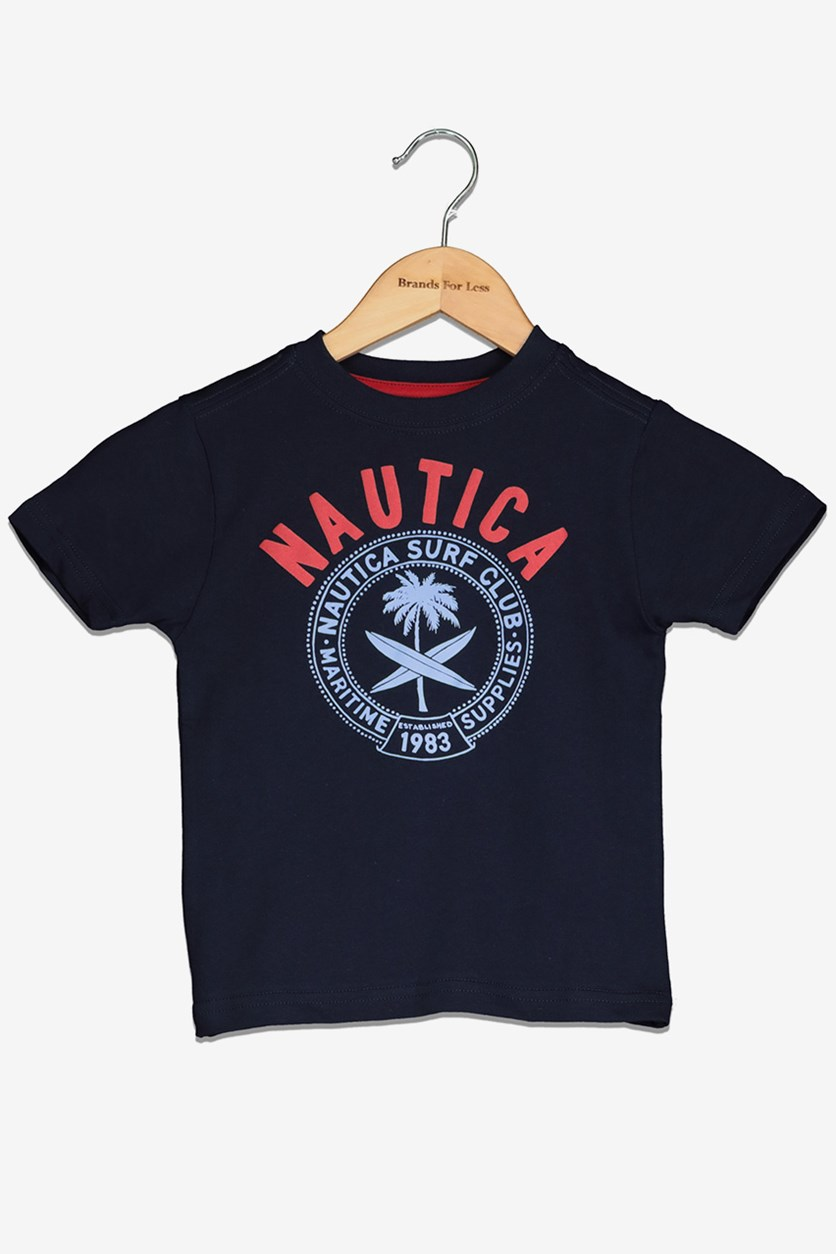 Toddlers Boy's Graphic Tee, Navy