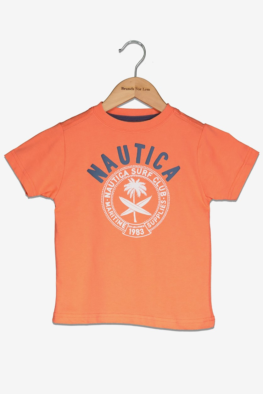 Toddlers Boy's Graphic Tee, Hibiscus