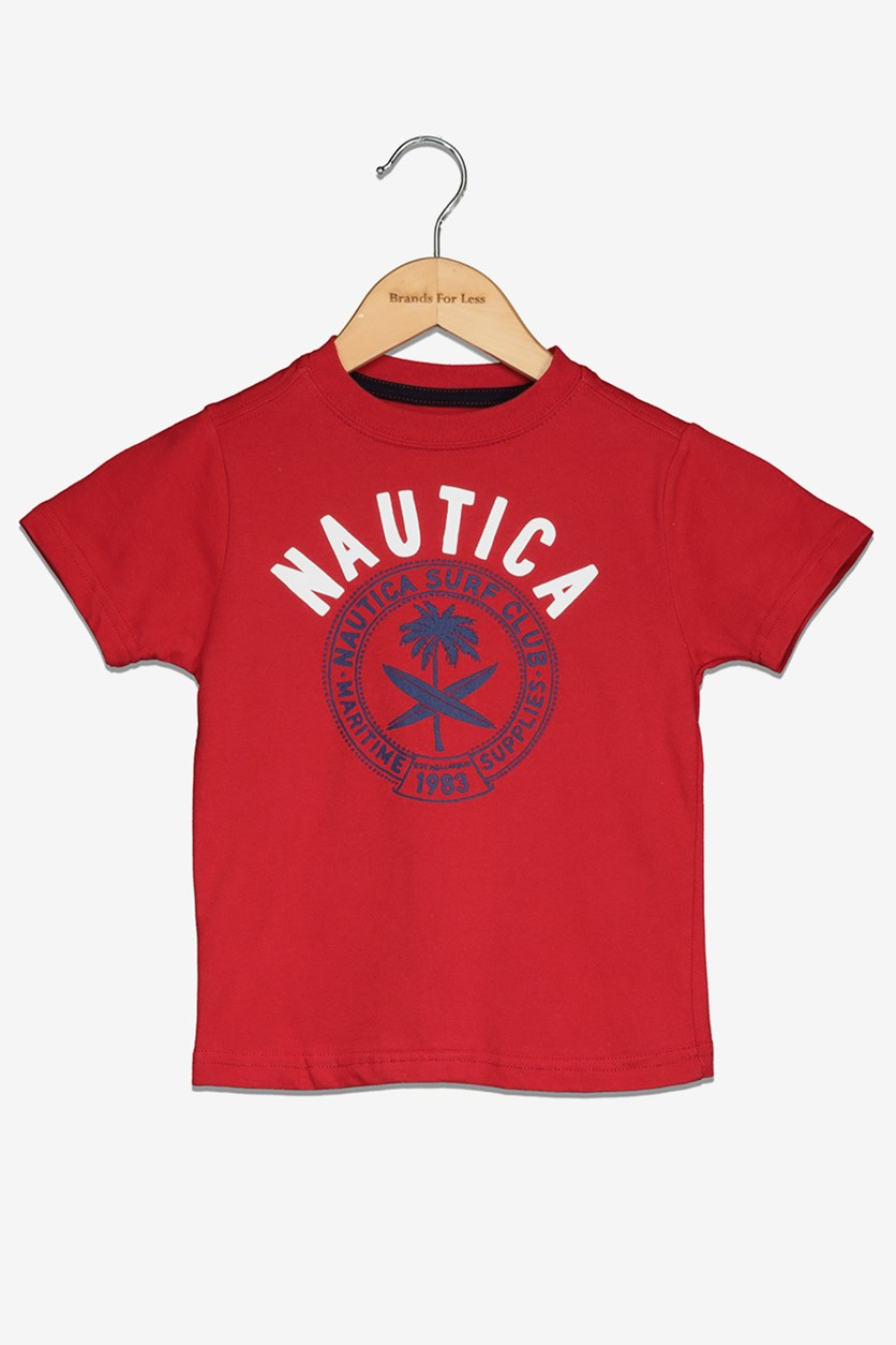 Toddlers Boy's Graphic Tee, Carmine Red