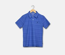 Nautica Big Boy's Striped Polo Shirt, Cobalt