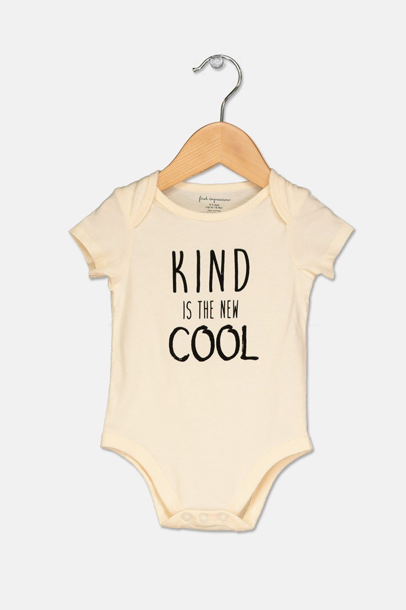 Kind Is The New Cool Bodysuit, Antiquel White