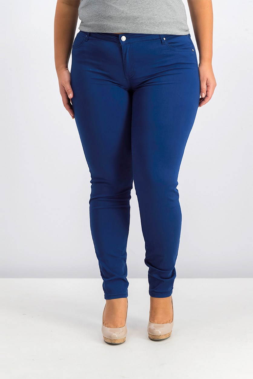 Women Juniors Skinny Jeans, Dark Blue Depth