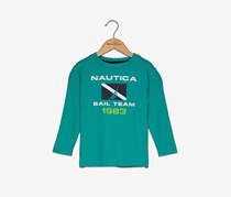 Nautice Toddlers Boys Graphic Tee, Teal