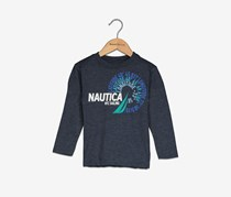 Nautica Toddlers Boy's Graphic Tee, Navy