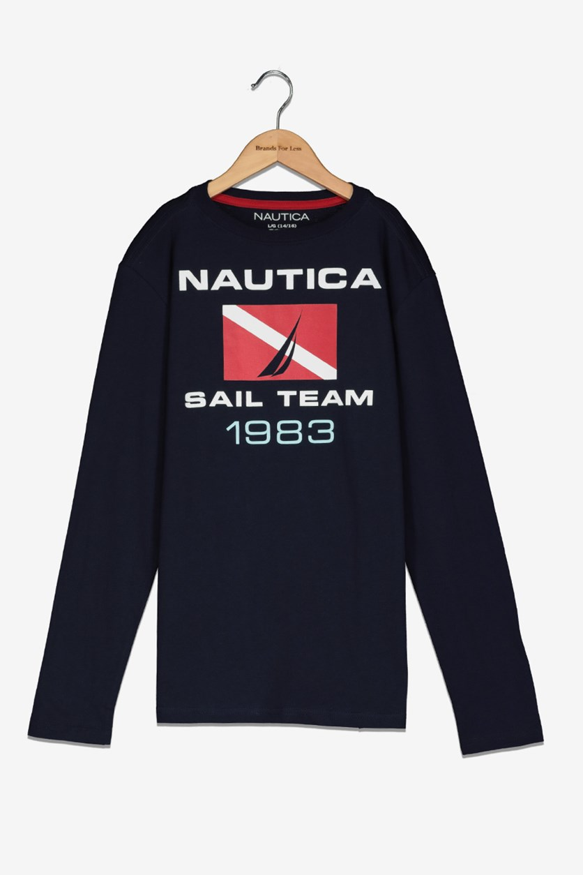 Boy's Graphic T-Shirt, Sport Navy