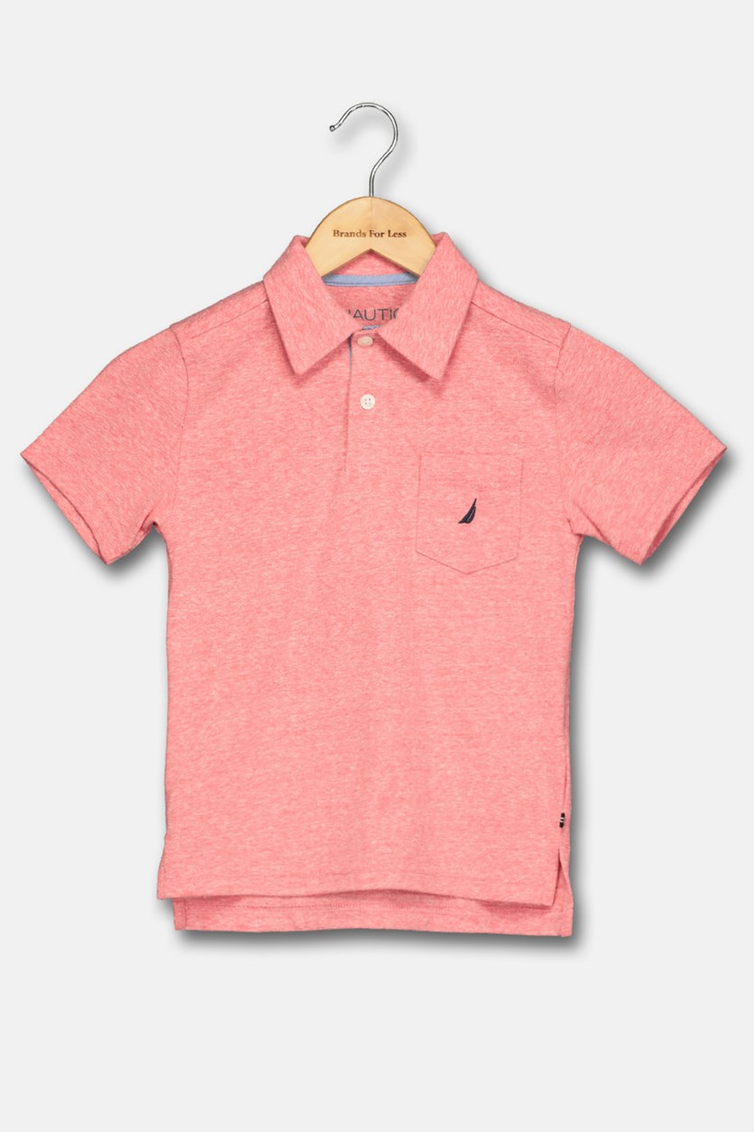 Little Boy's Classic Polo Shirt, Dark Coral
