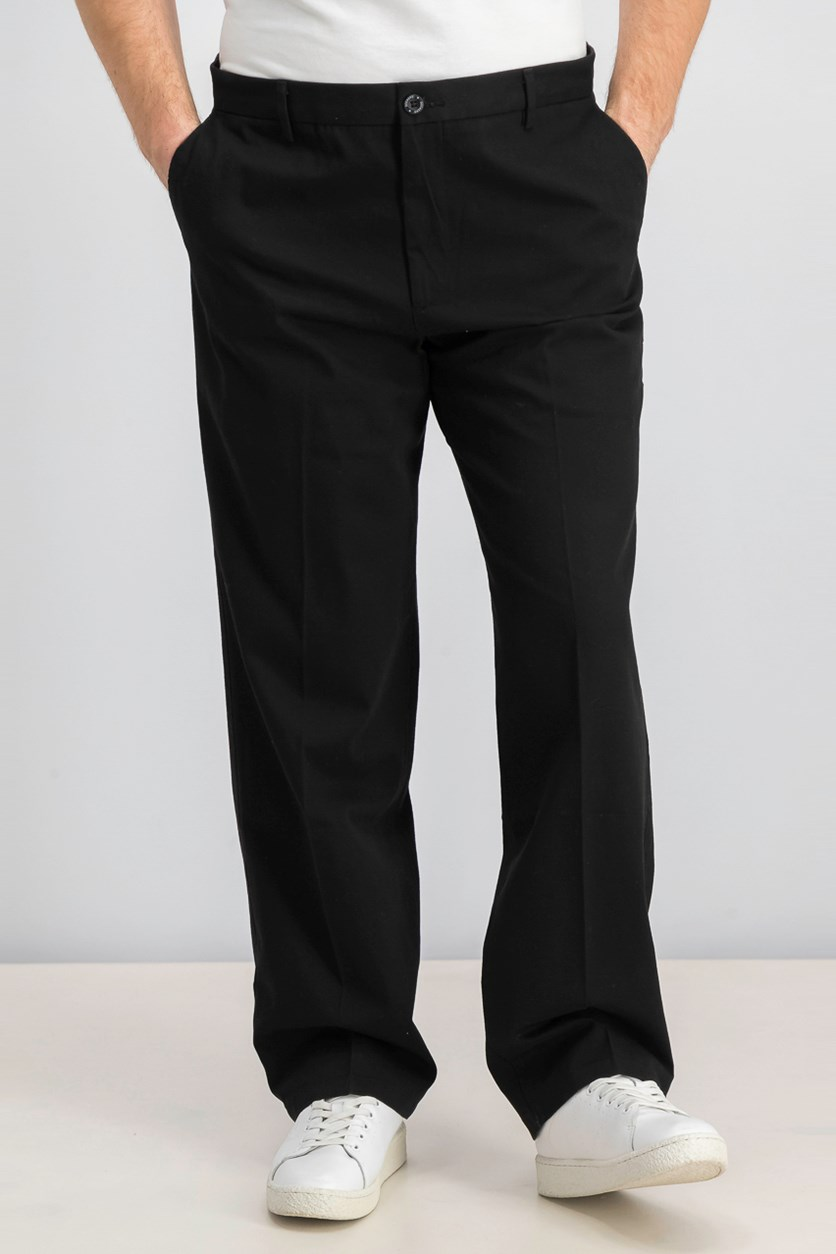 Men's Stretch Classic Fit Signature Khaki Pants, Black