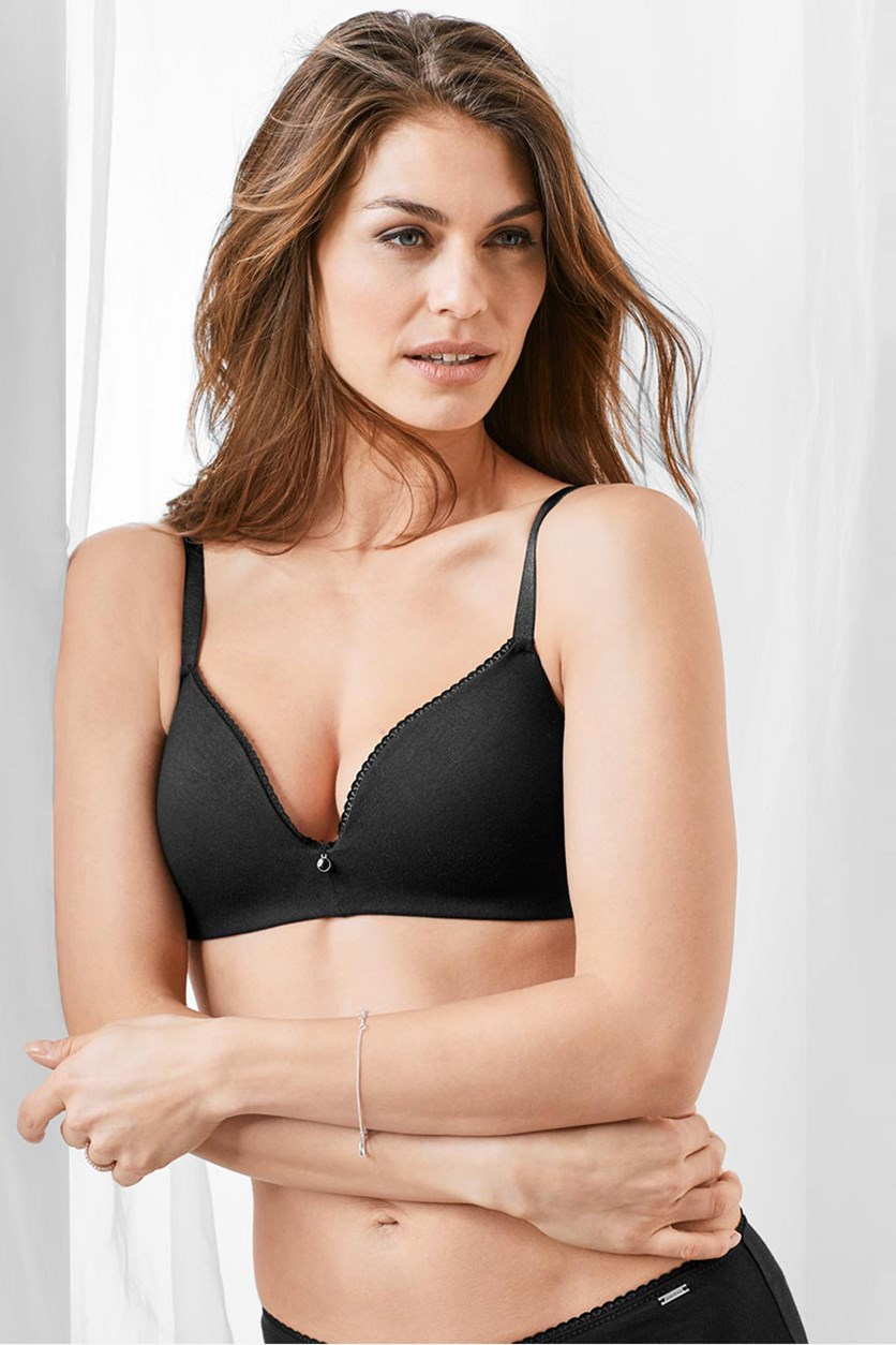 Women's Soft Cup Bra, Black