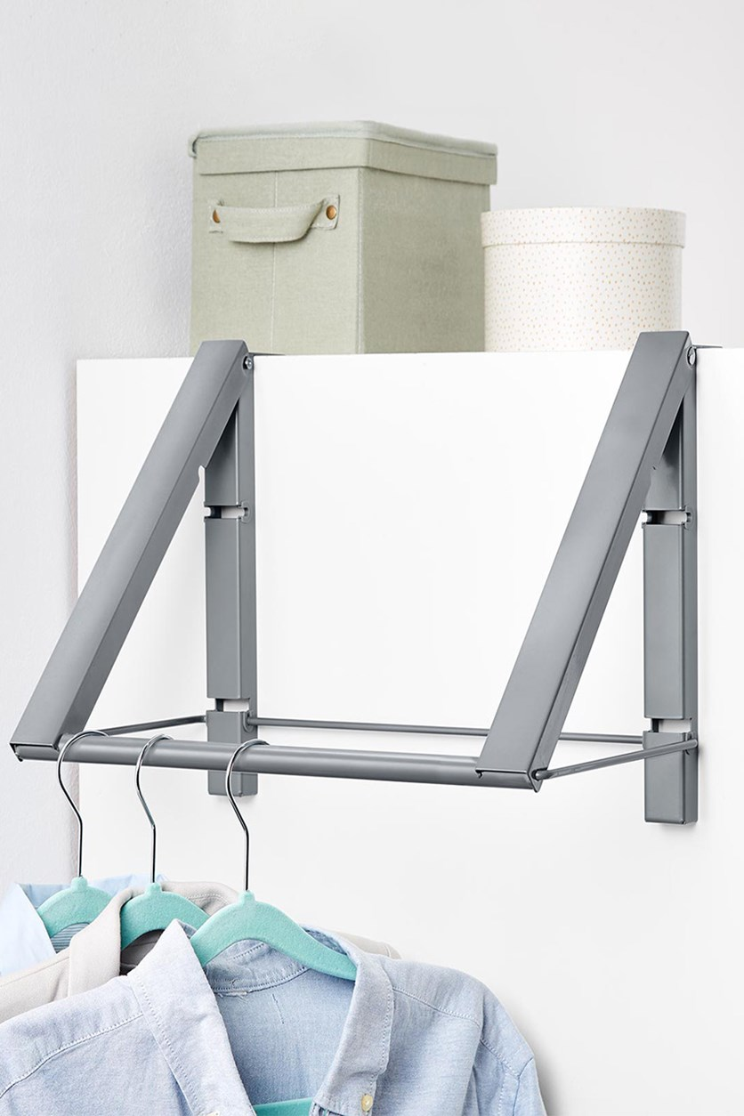 Cupboard Coat Rack, Gray