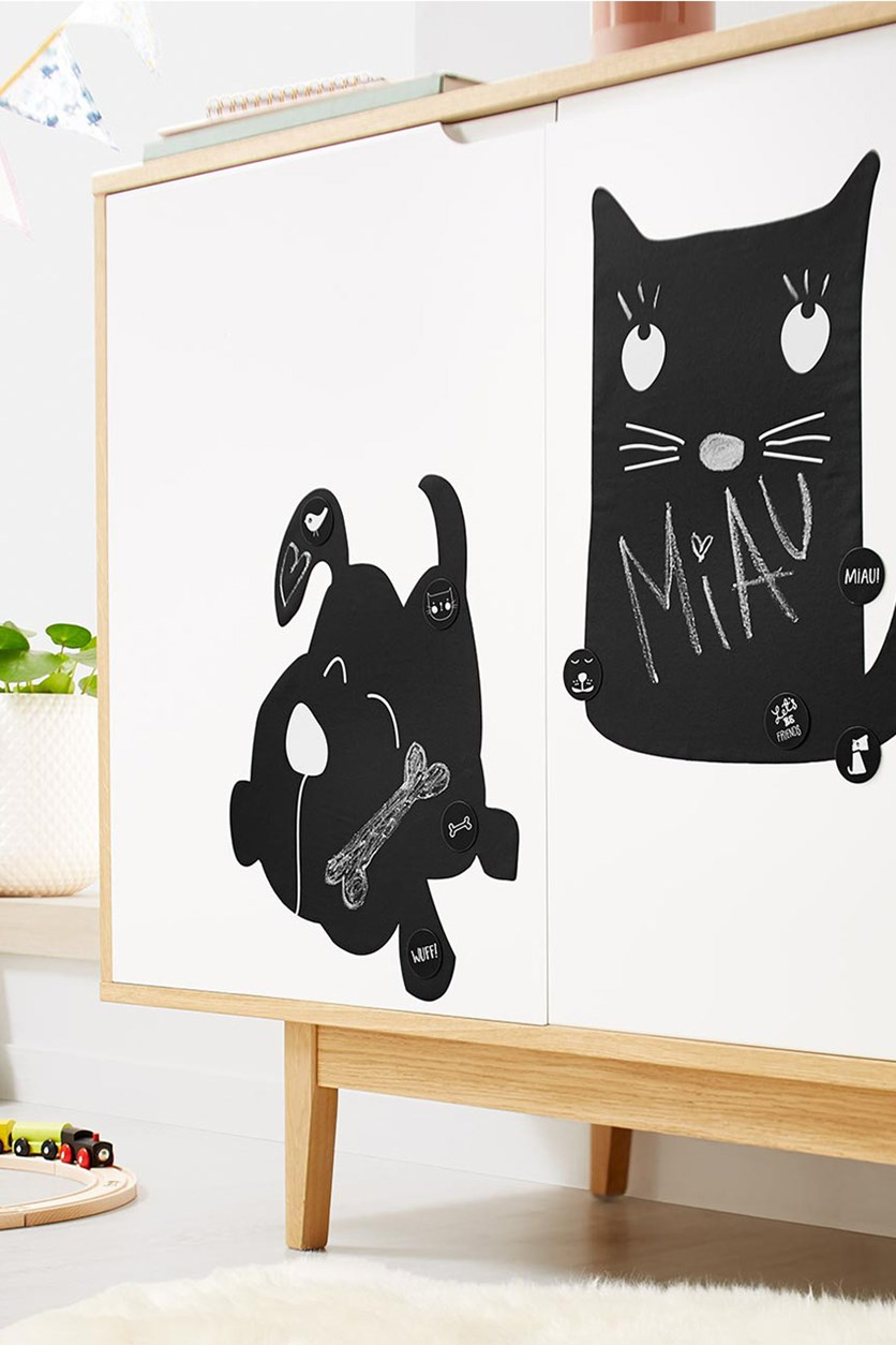 Self Adhesive Blackboards Set of 2, Black