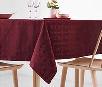 Jacquard Tablecloth, Dark Red