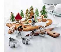Cookie Cutter Set Winter Forest, Silver
