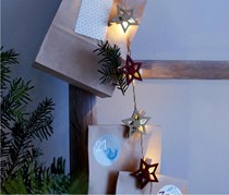 LED Fairy Lights with Clips, Red/Grey