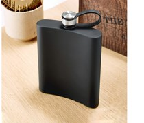 Stainless Steel Hip Flask, Black