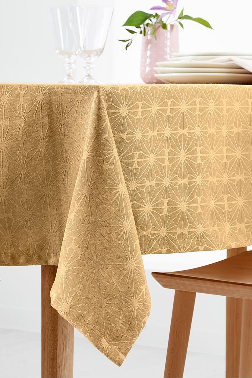 Jacquard Tablecloth, Gold