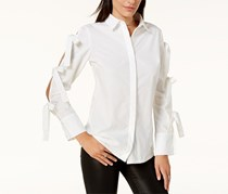 Glam by Glamorous  Women's Tied-Sleeve Shirt, White
