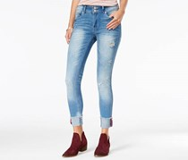 Indigo Rein Women's Ripped Yandle Wash Skinny Jeans, Blue